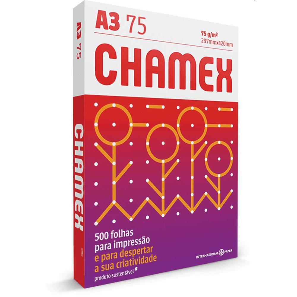 Papel Sulfite A3 Chamex Multi Branco 75G 297x420mm 500 Folhas