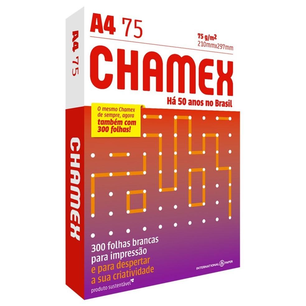 Papel Sulfite A4 Chamex Office Branco 75G 210x297mm 300 Folhas