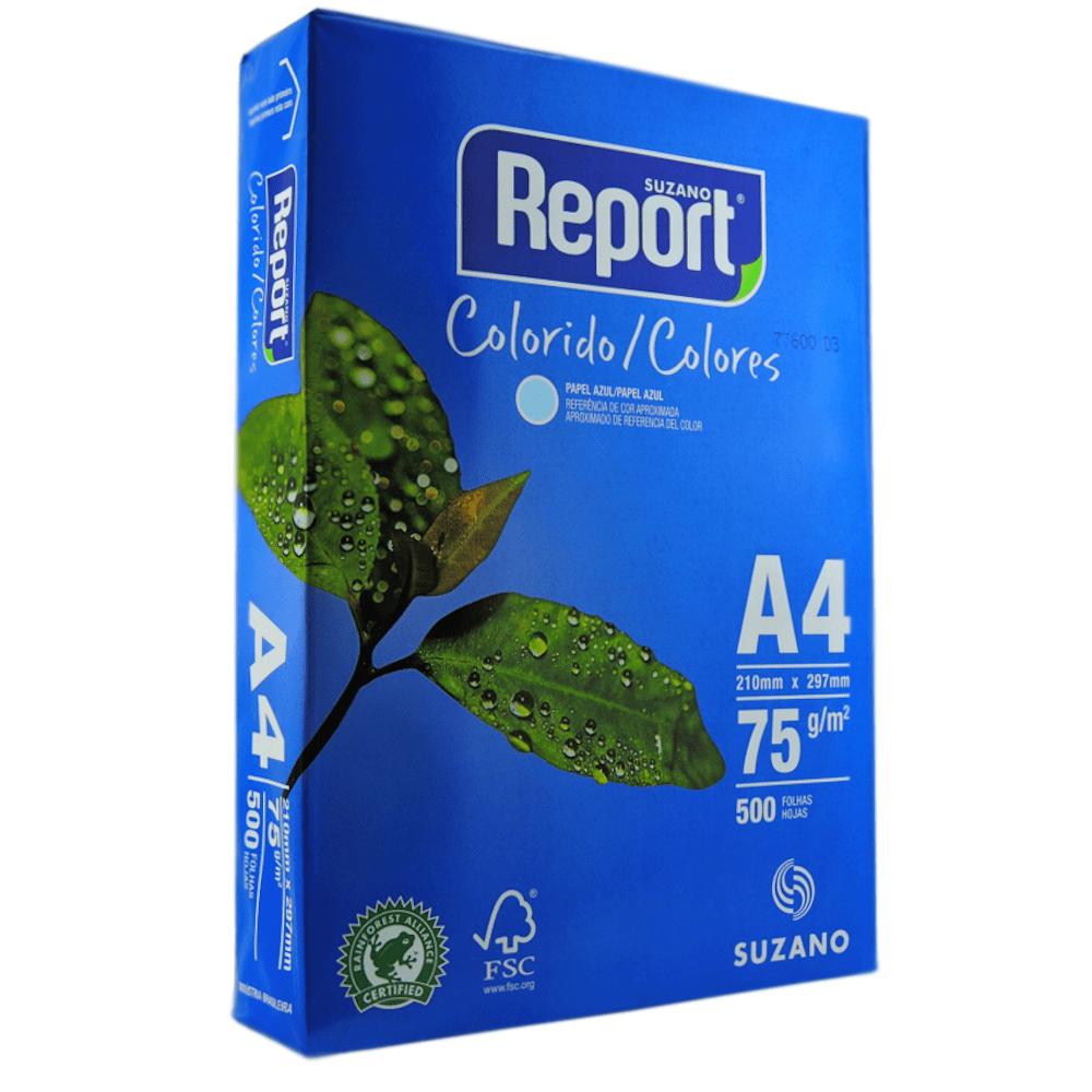 Papel Sulfite A4 Report Azul 75G 210x297mm 500 Folhas