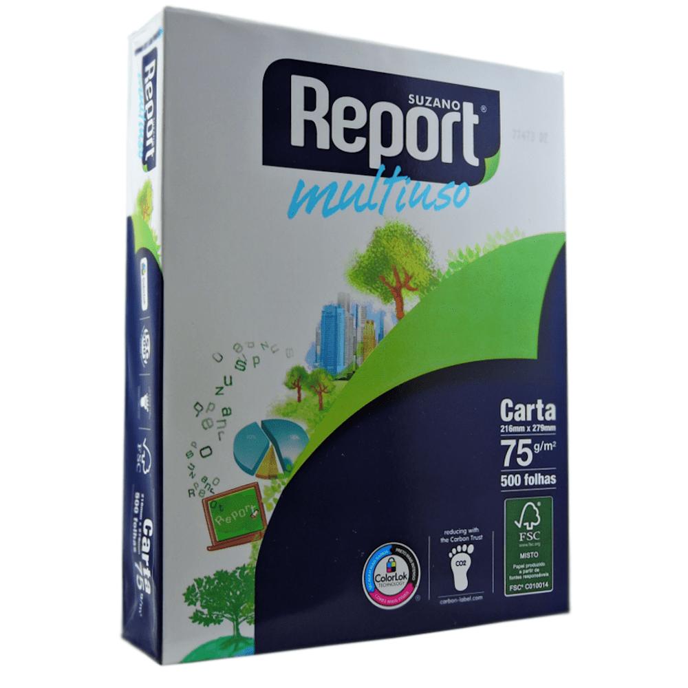 Papel Sulfite Carta Report Office Branco 75G 216x279mm 500 Folhas