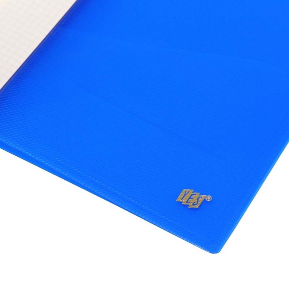 Pasta Grampo Mola A4 Transparente Azul Yes