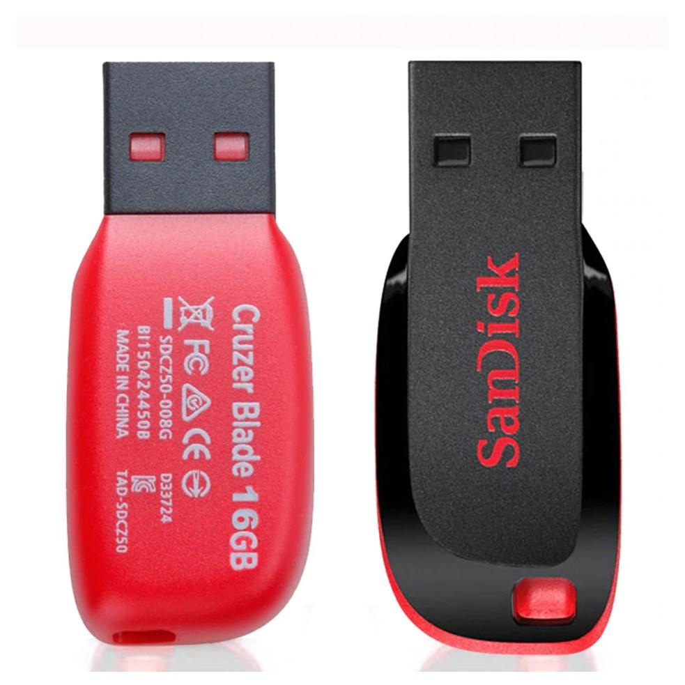 Pen Drive 16GB SanDisk Cruzer Blade Preto