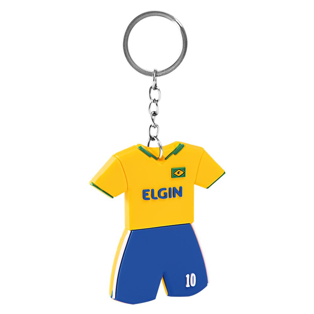 Pilha Elgin Kit 4 Unidade AA + 4 Unidades AAA Alcalinas + Chaveiro Copa 2018