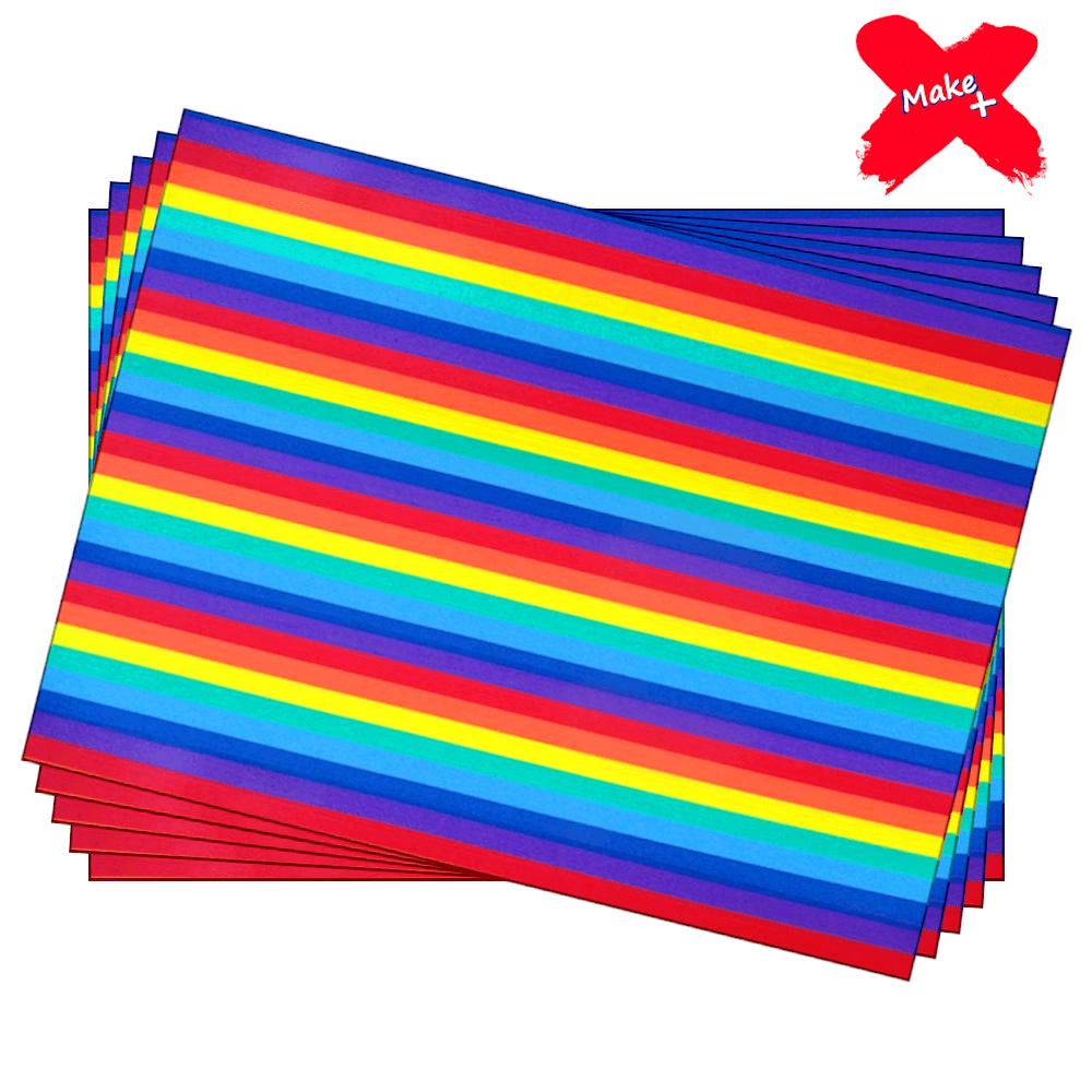 Placa E.V.A Estampado 60x40cm Arco Íris 05un Make+