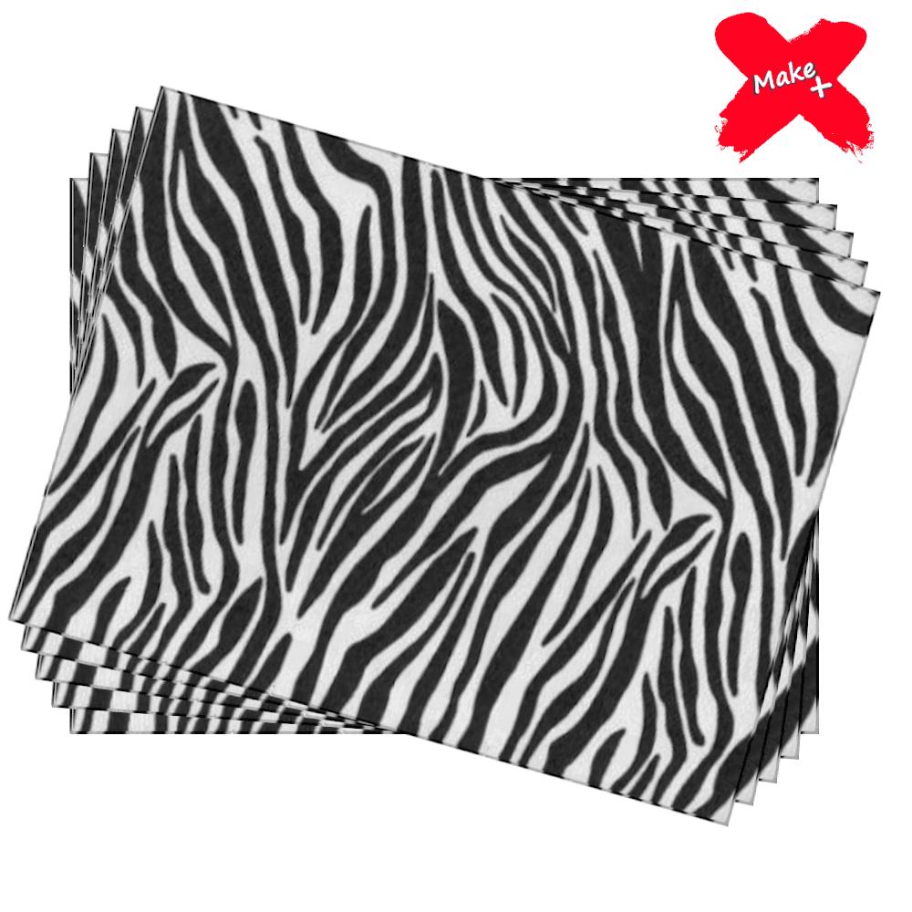 Placa E.V.A Estampado 60x40cm Zebra 05un Make+
