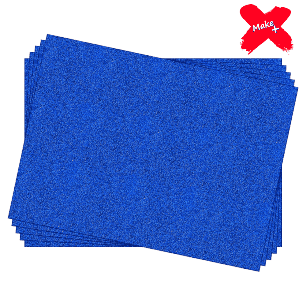 Placa E.V.A Glitter 60x40cm Azul Escuro 05un Make+