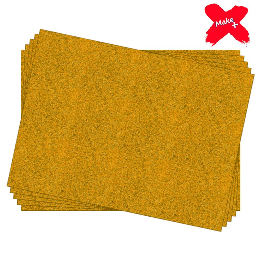 Placa E.V.A Glitter 60x40cm Ouro 05un Make+