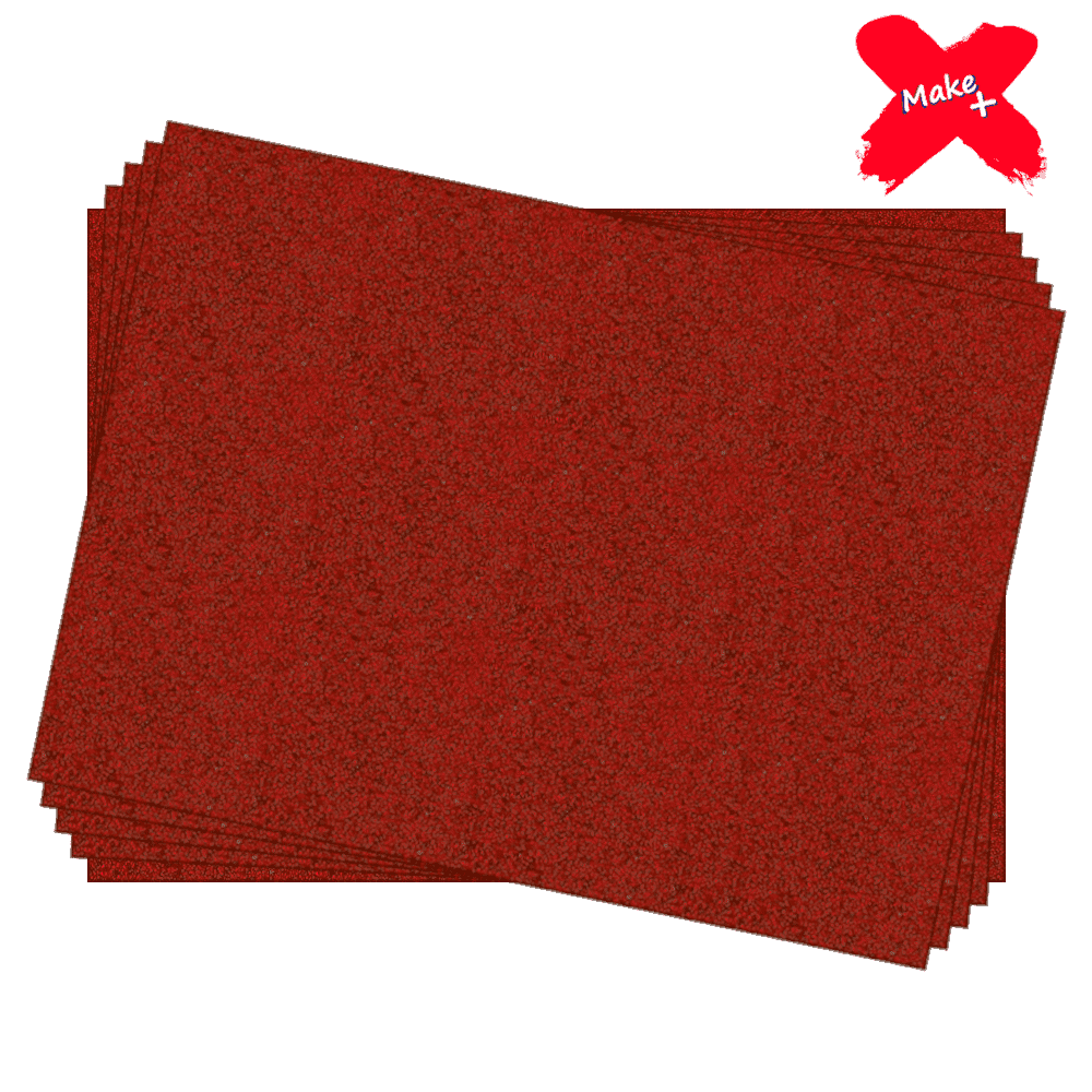 Placa E.V.A Glitter 60x40cm Vermelho 05un Make+