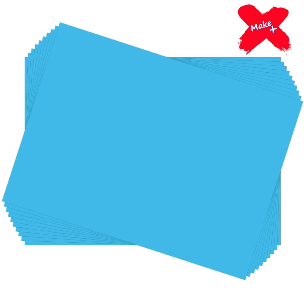 Placa E.V.A Liso 60x40cm Azul Claro 10un Make+