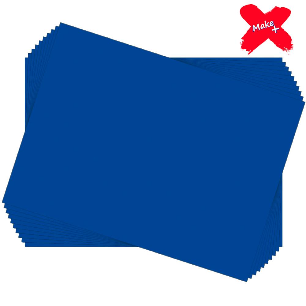 Placa E.V.A Liso 60x40cm Azul Royal 10un Make+