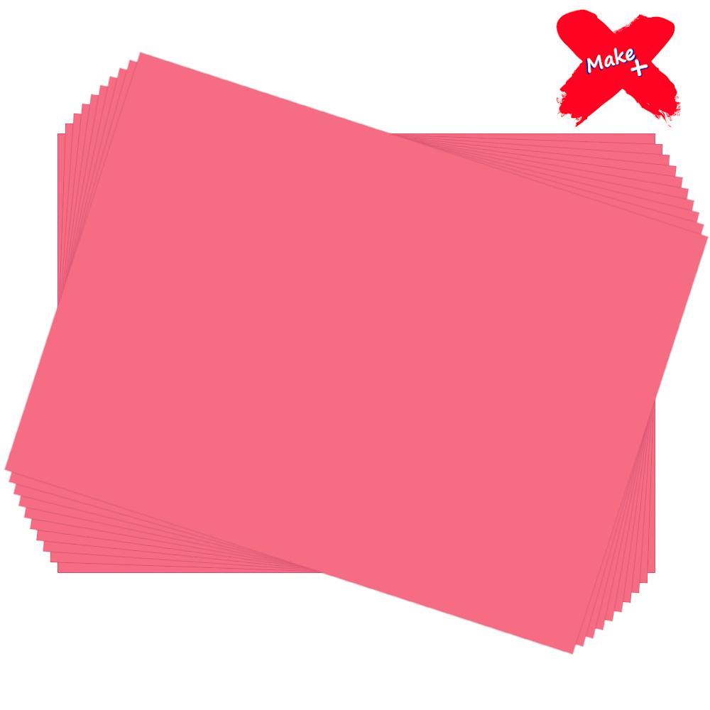 Placa E.V.A Liso 60x40cm Rosa 10un Make+