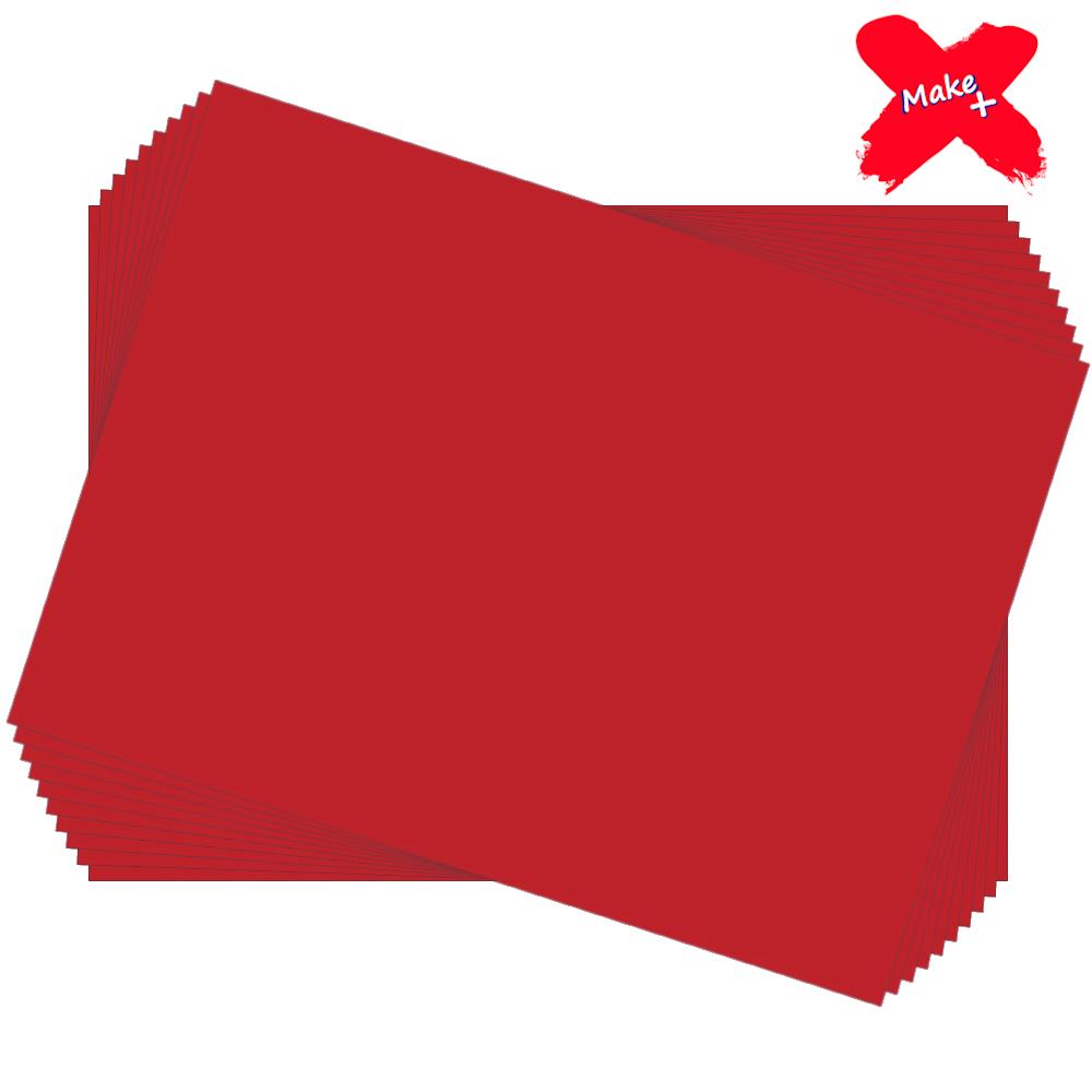 Placa E.V.A Liso 60x40cm Vermelho 10un Make+