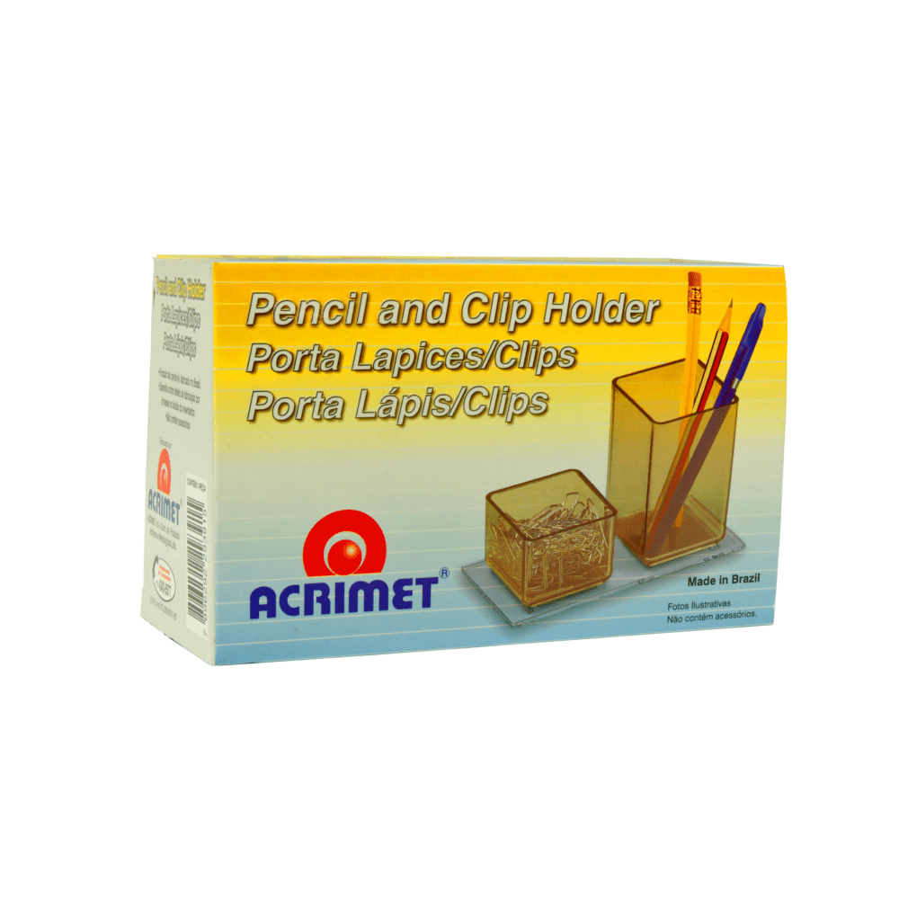 Porta Lápis/Clips Acrimet Fumê 939.1