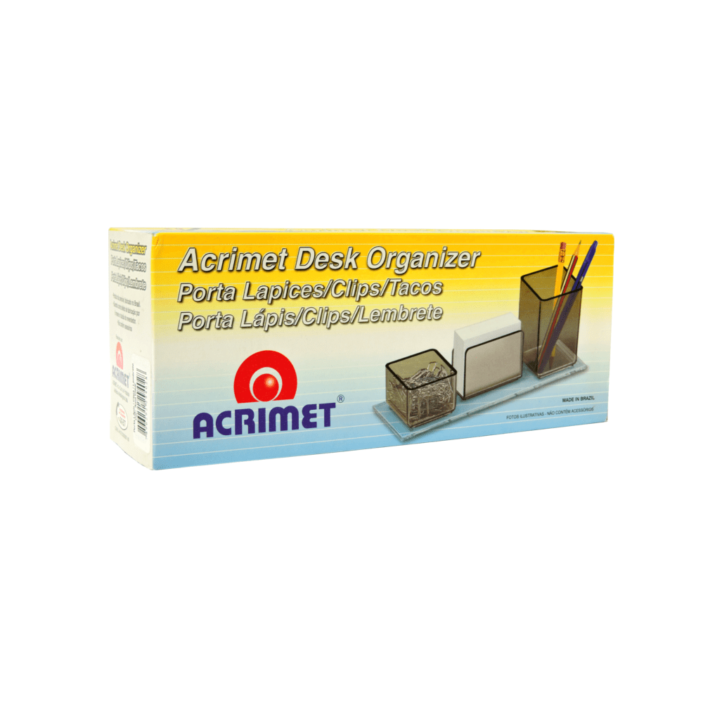 Porta Lápis/Clips/Lembrete Acrimet Azul 940.2