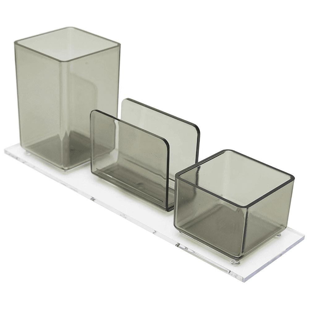 Porta Lápis/Clips/Lembrete Acrimet Fumê 940.1
