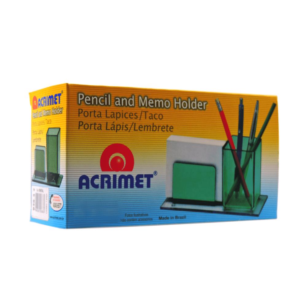 Porta Lápis/Lembrete Acrimet Cristal 938.3