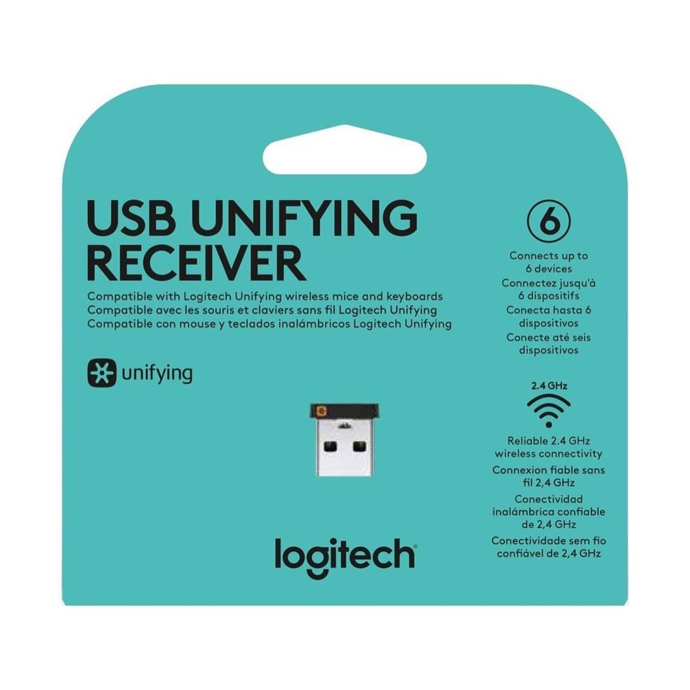 Receptor Logitech Unifying USB para Mouse E Teclado Sem Fio