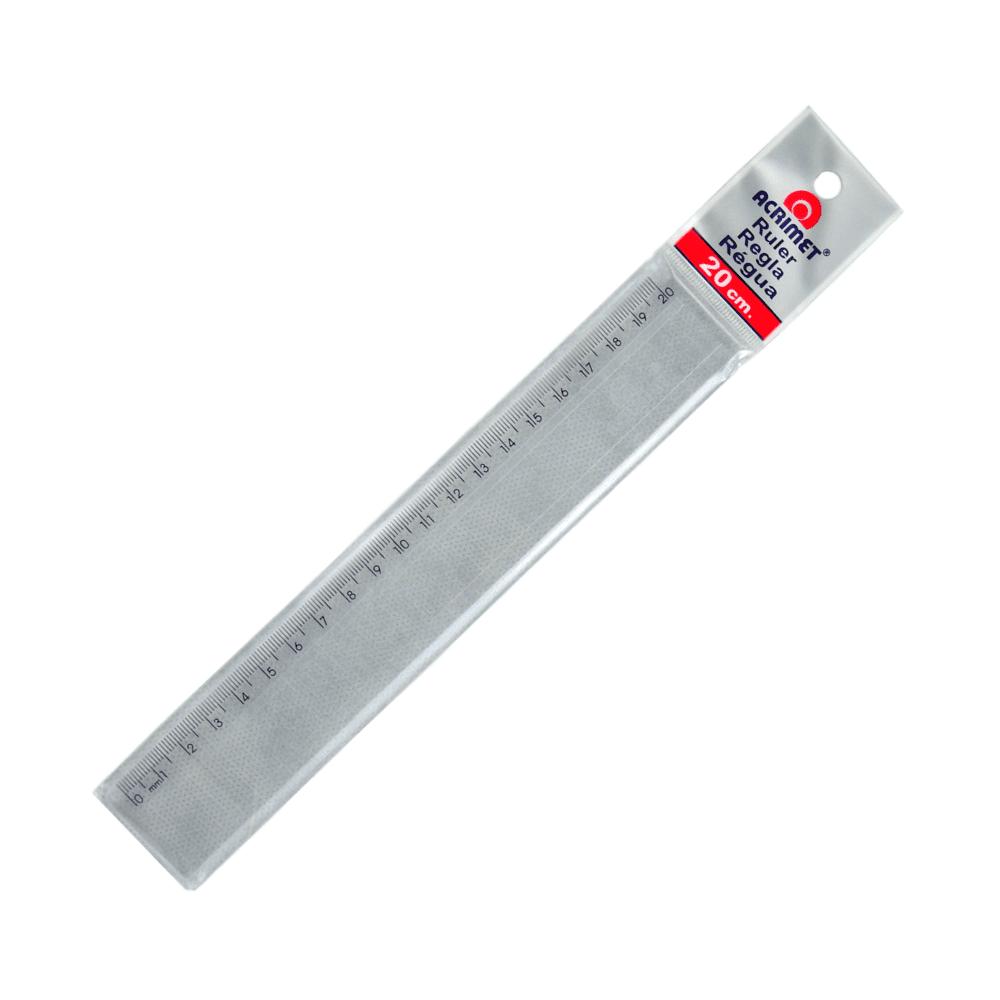 Régua Escolar Acrimet 20cm Cristal 512.0