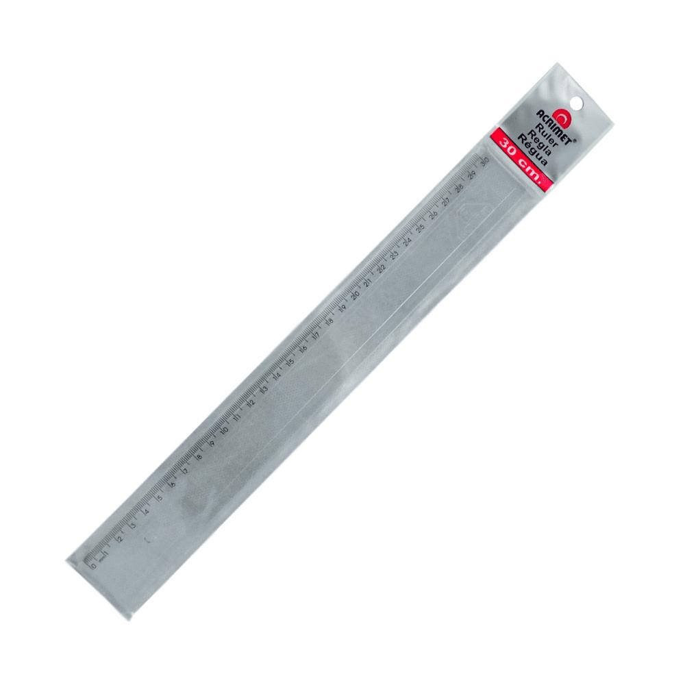 Régua Escolar Acrimet 30cm Cristal 981.0
