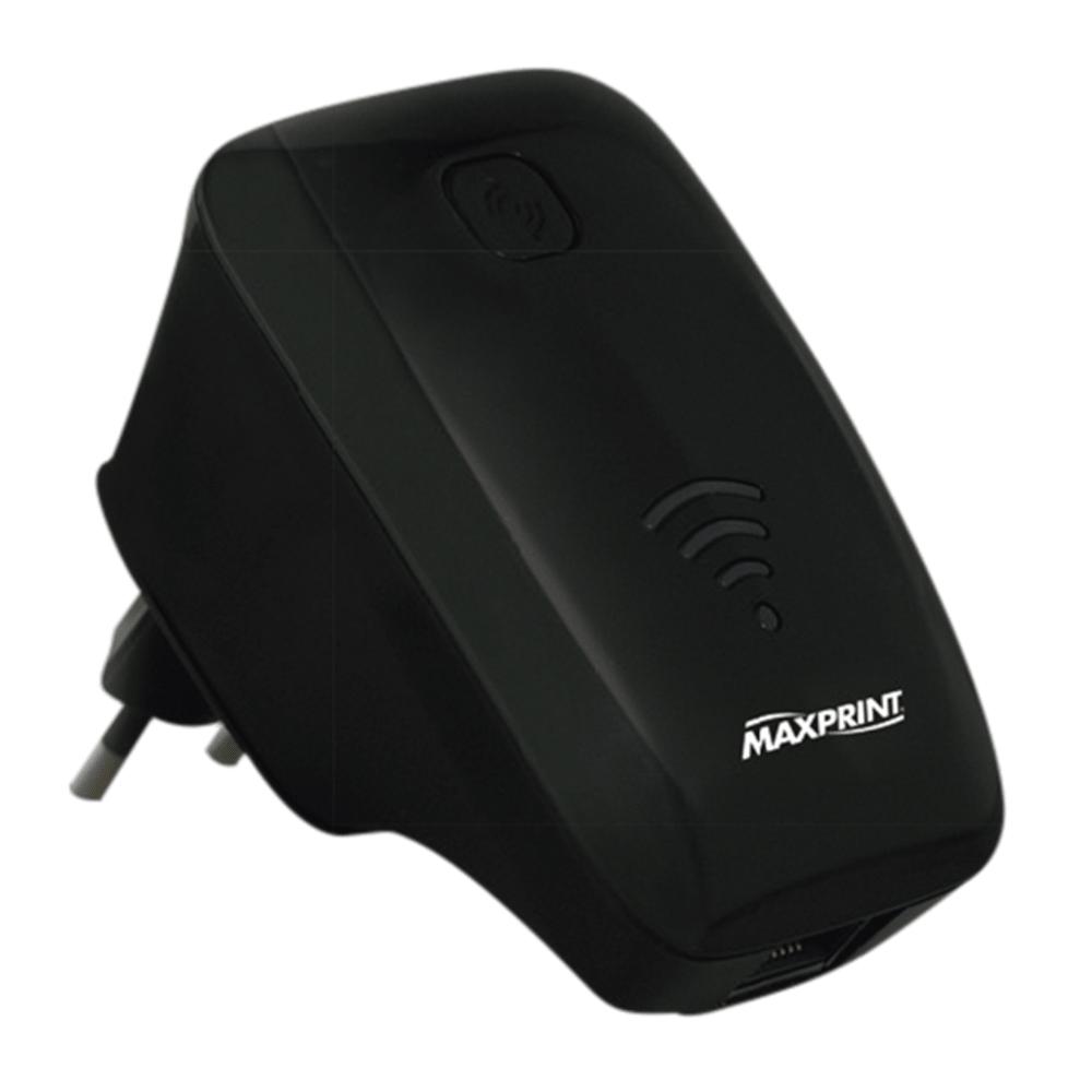 Roteador/Repetidor de Sinal Wi-Fi Maxprint MaxLink 300P Preto 6828-8