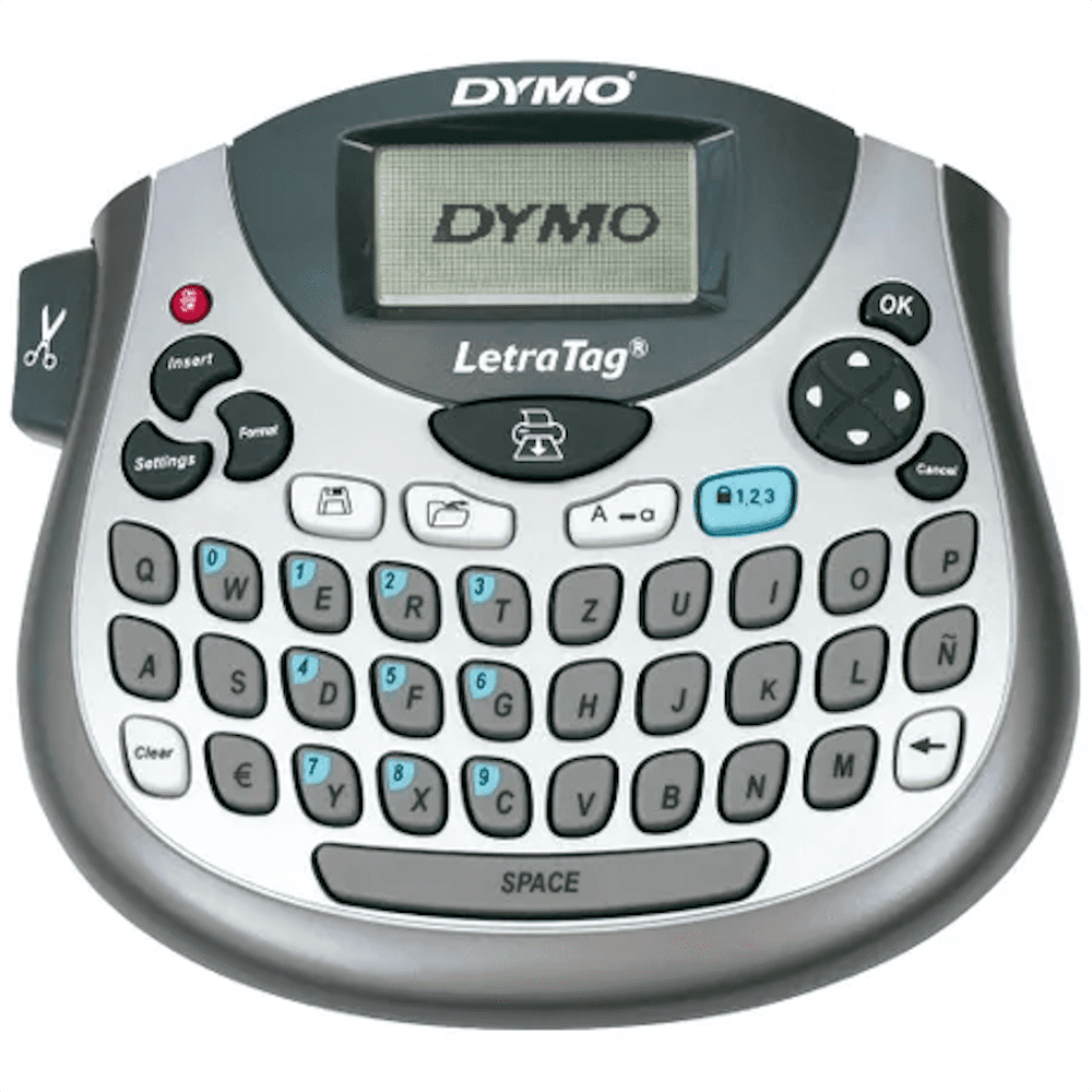 Rotulador Eletrônico Letra Tag LT100T Cinza Dymo