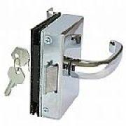 AMELCO - Fechadura Elétrica Maçaneta alavanca porta Vidro 1 Folha Recorte AMELCO FV 33 ECRA(Abert.externa)