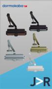 DORMA - Mola Aérea MA 200/4 força 4 para portas de 65 a 85 Kg