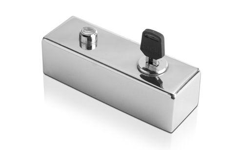 DRIGON - Botoeira de inox de sobrepor com led indicativo e acionamento chave Pacri