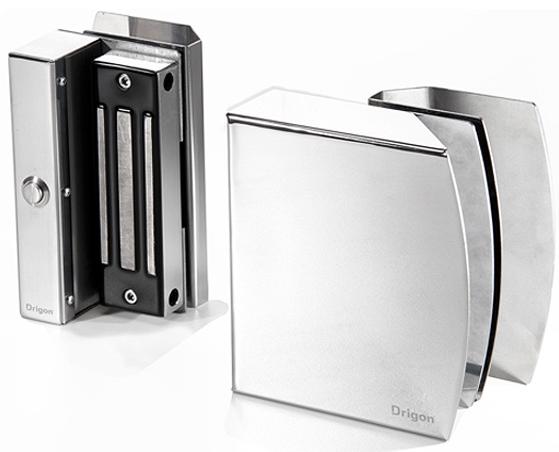 DRIGON - EVOLUTION - Fechadura de eletroimã 120 kgf inox para portas de vidro 2 folhas