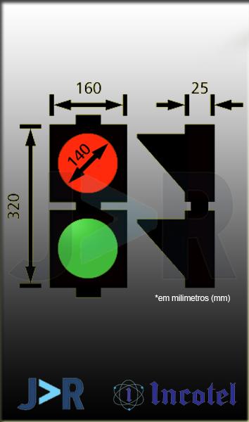 INCOTEL - SEMÁFORO SLIM 2 CORES (VERDE/VERMELHO) 37 LEDS BIVOLT