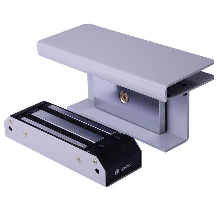 IPEC - DZM 150 Fechadura de eletroimã com suporte para porta de vidro de correr (deslizante)