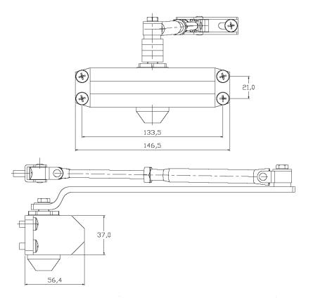 UDINESE / ASSA ABLOY - Mola Aérea UD45 Potência 2 (Portas de 25 a 45kg)