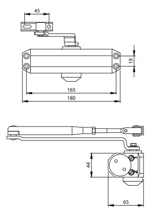 UDINESE / ASSA ABLOY - Mola Aérea UD77Z Potência Regulável 2-4 (Portas de 25 a 80kg)
