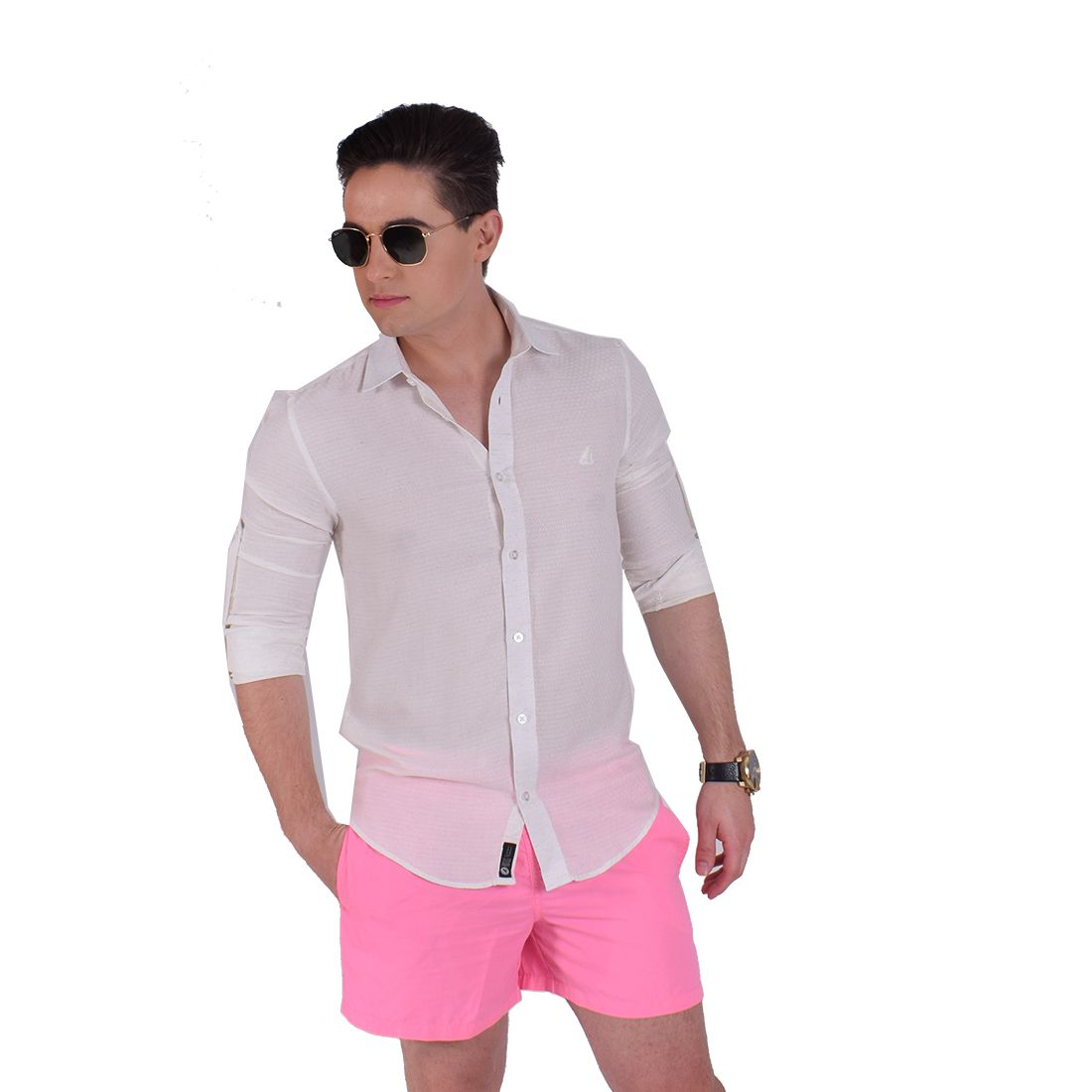 Camisa Social Masculina Branca Martingale Slim