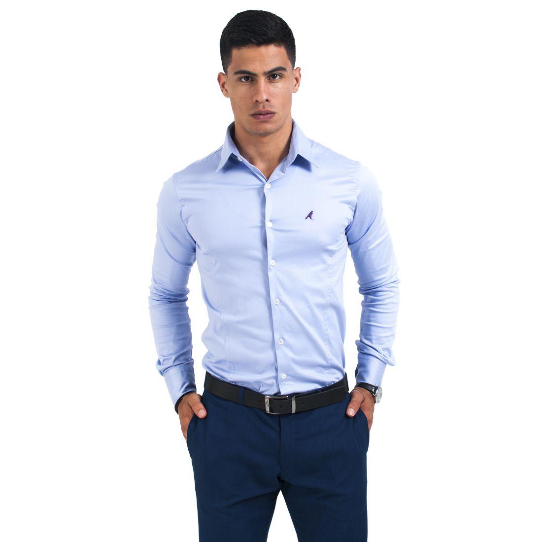 Camisa Social Violeta Masculina