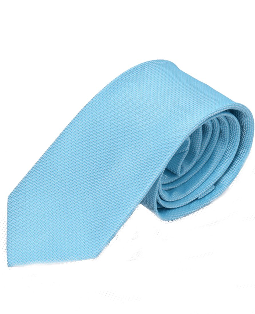 Gravata Slim Azul Claro - 100% poliéster