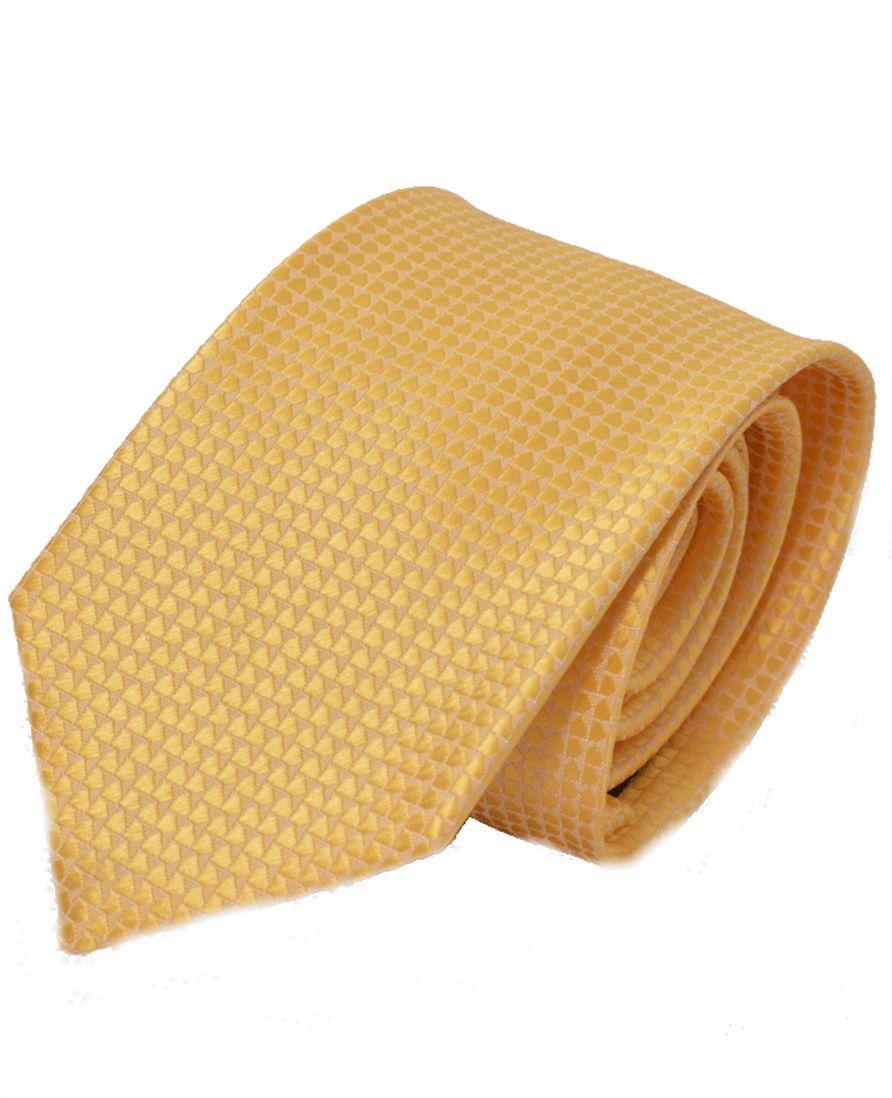 Gravata Dourada Masculina Tradicional