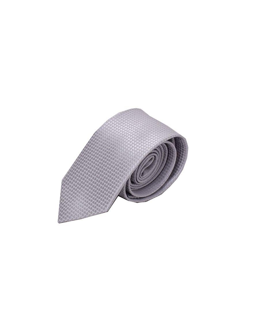 Gravata Trabalhada Prata Masculina