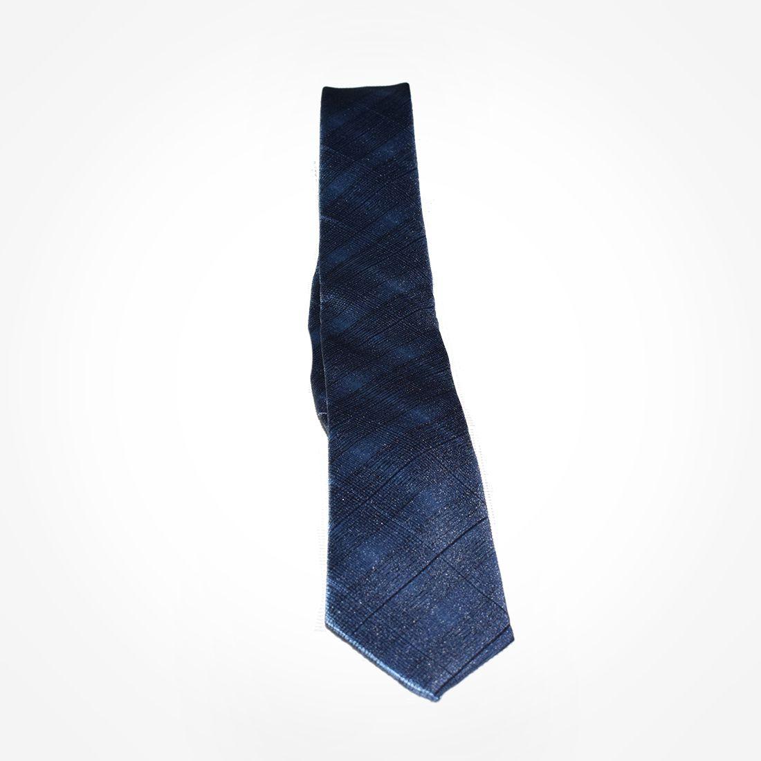 4022 - Gravata Azul Trançada Slim - LEVOK
