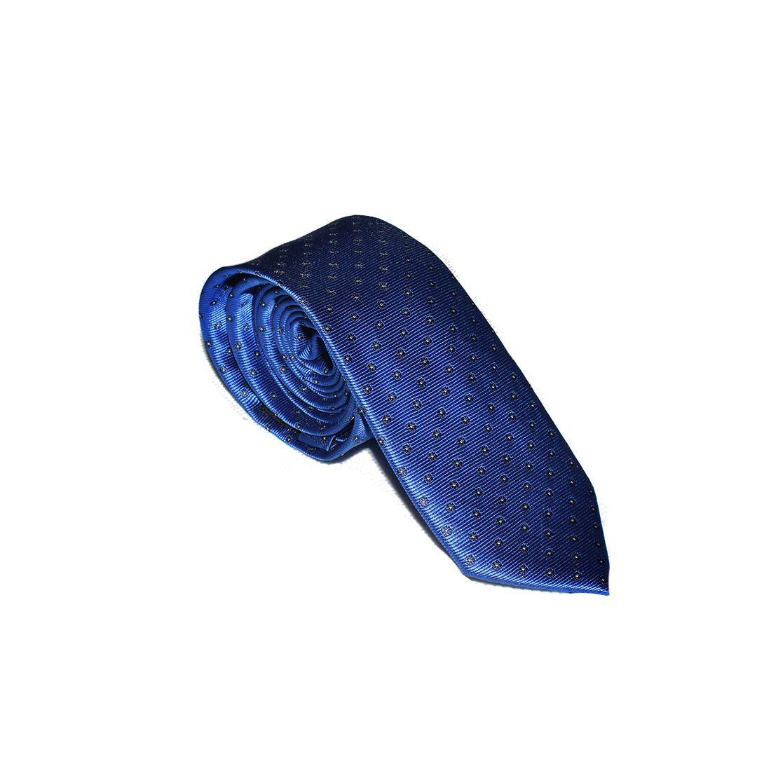 Gravata Slim Azul Royal - 100% poliéster