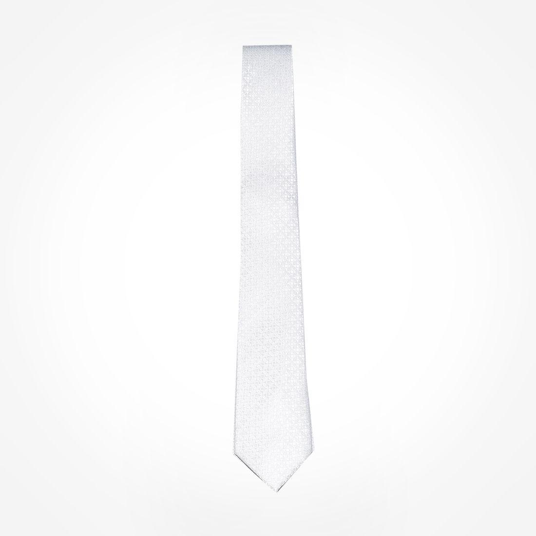 4027 - Gravata Branca Slim  LEVOK