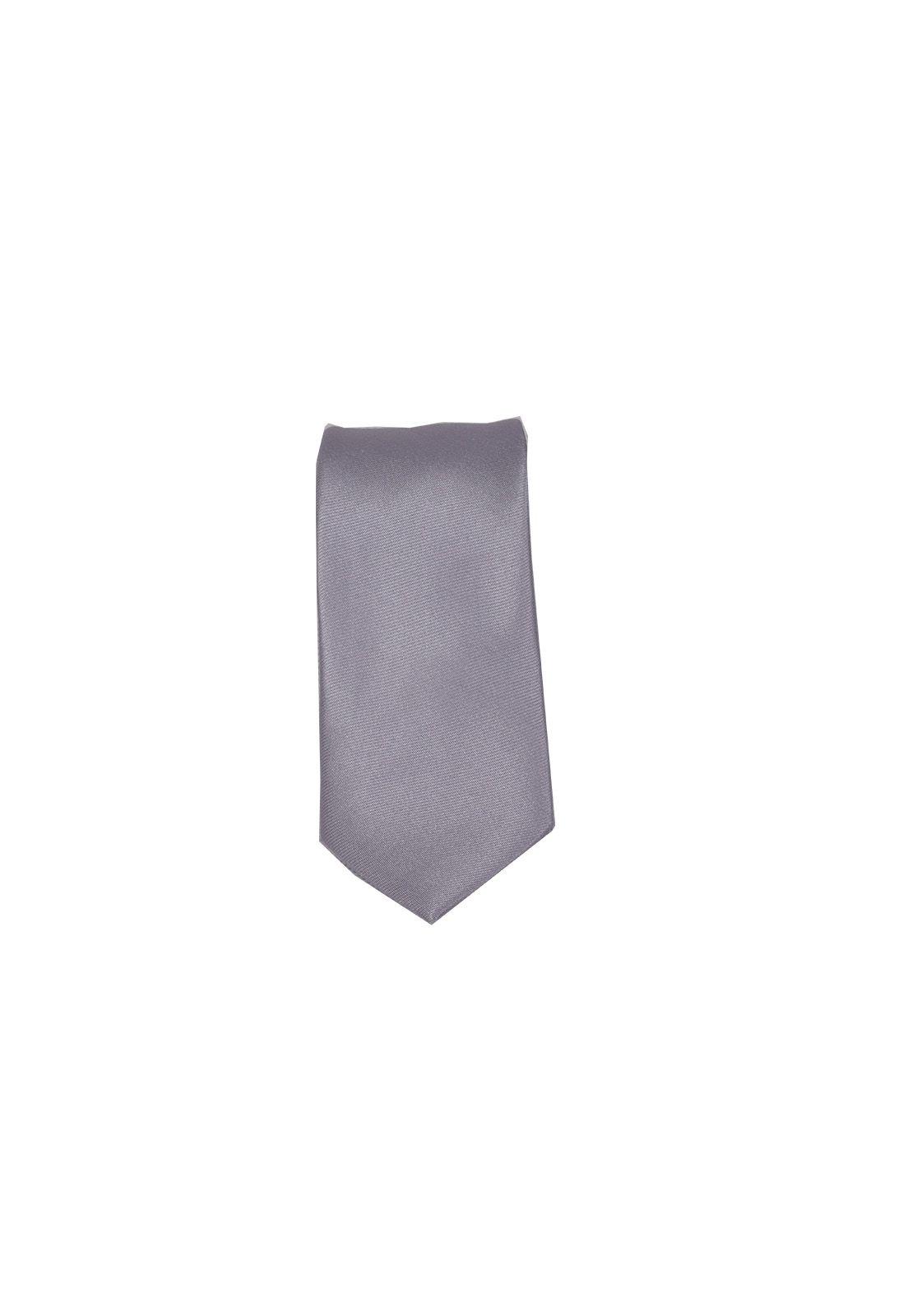 Gravata Masculina Slim Prata