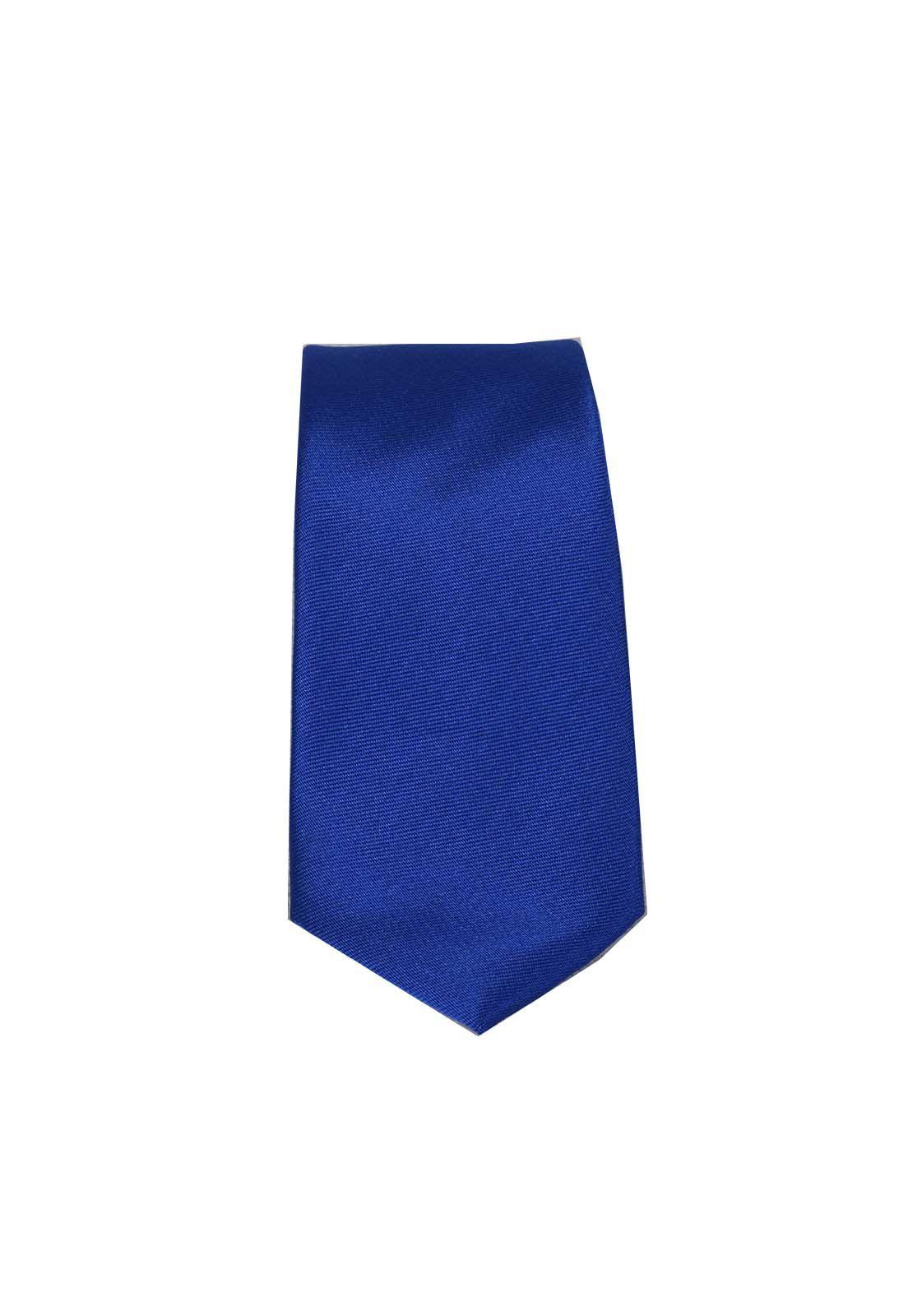 4030 - Gravata Slim Azul Lisa - LEVOK