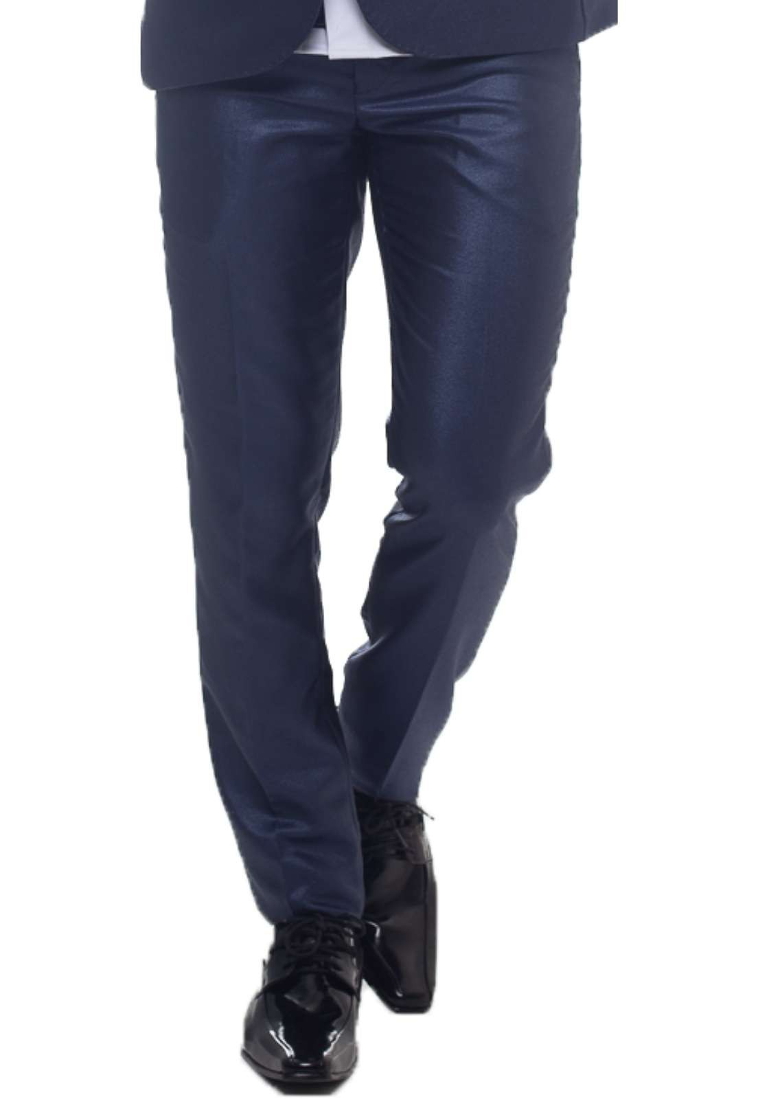 Calça Social Azul Masculina