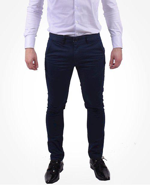 700104 - Calça Slim Masculina Azul Marinho
