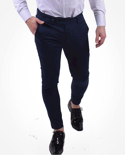 700204 - Calça Alfaiataria Super Slim Azul Marinho