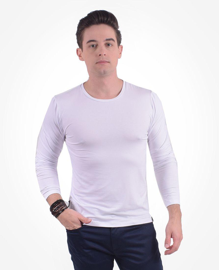 Camiseta Gola Redonda Branca