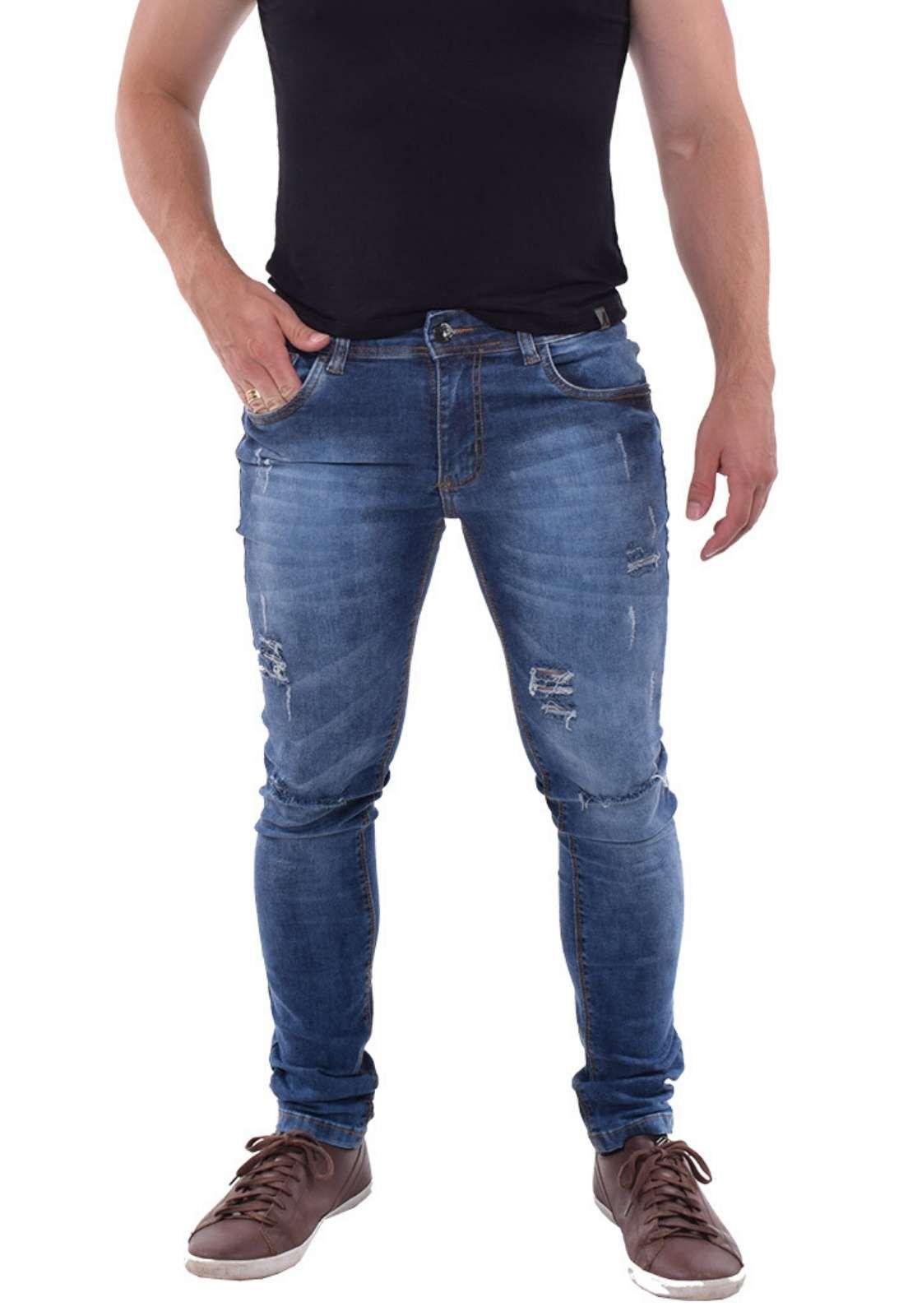 Calça Masculina Jeans Lavado 700303