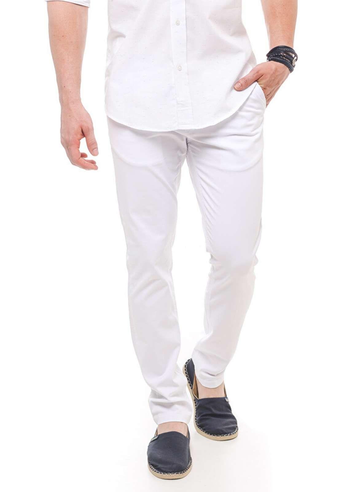 Calça de Sarja Masculina Branca