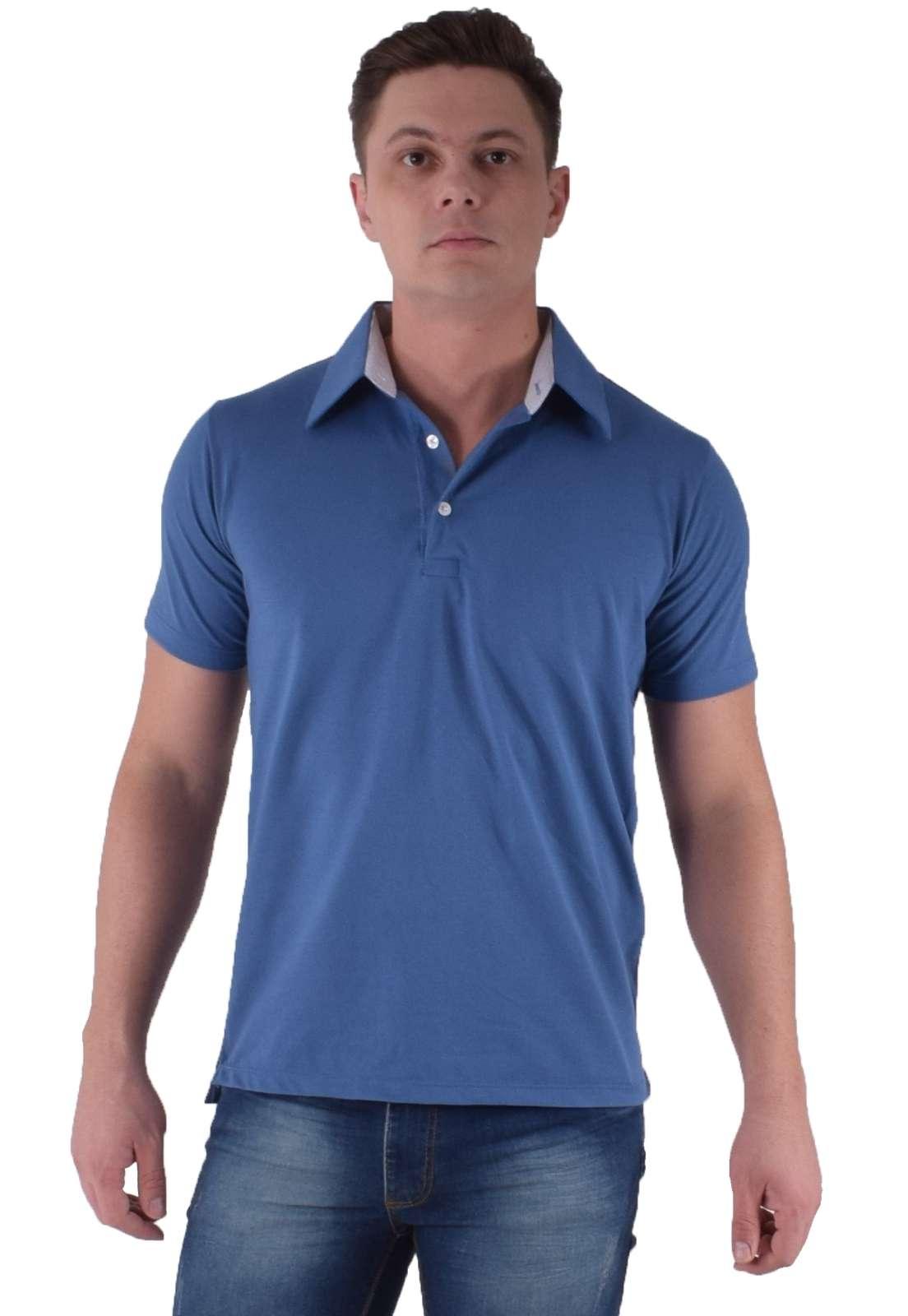 Camisa Polo Azul